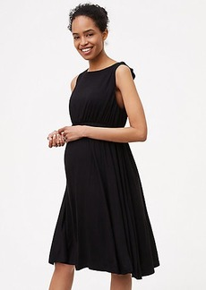 Petite Maternity Ruffle Back Dress
