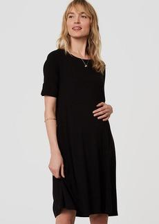 Petite Maternity Short Sleeve Swing Dress