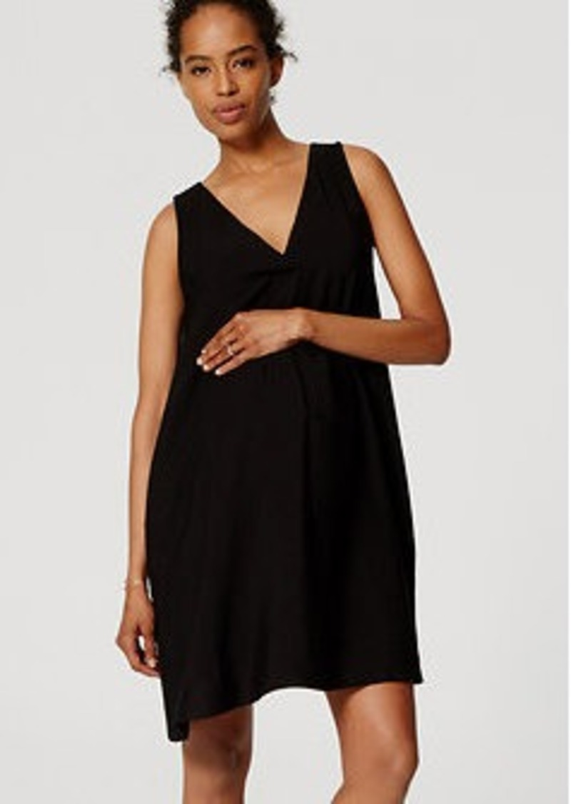 LOFT Petite Maternity Sleeveless Swing Dress