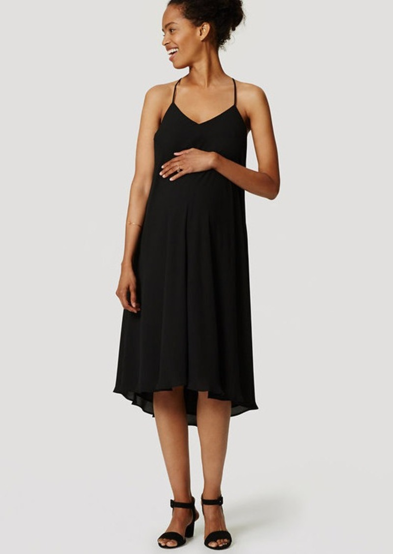 LOFT Petite Maternity Strappy Racerback Dress