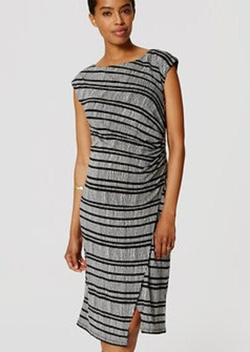 LOFT Petite Maternity Striped Wrap Dress