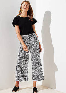 LOFT Petite Meadow Fluid Wide Leg Pants