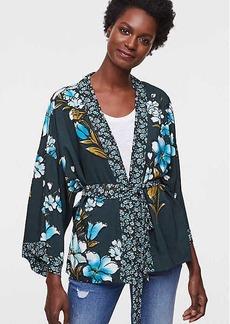 LOFT Petite Mixed Floral Kimono Blouse