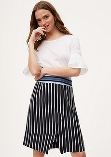 LOFT Petite Mixed Stripe Wrap Skirt