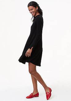 LOFT Petite Mock Neck Swing Sweater Dress