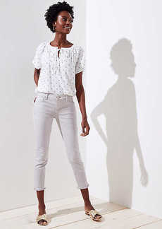 LOFT Petite Modern Frayed Skinny Crop Jeans
