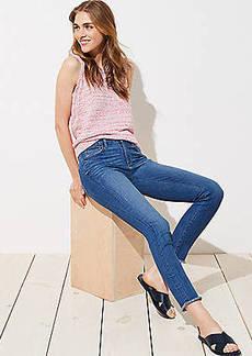 LOFT Petite Modern Fresh Cut Skinny Jeans in Mid Stonewash