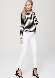 LOFT Petite Modern Kick Crop Jeans in White