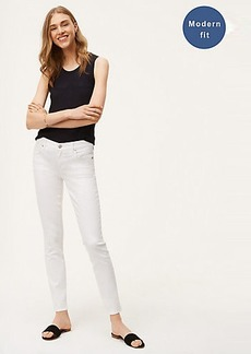 LOFT Petite Modern Skinny Jeans in White