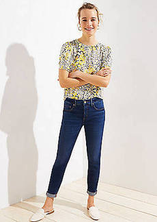 LOFT Petite Soft Slim Pocket Skinny Crop Jeans in Authentic Dark Indigo Wash