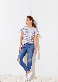LOFT Petite Modern Step Hem Skinny Jeans in Light Vintage Wash