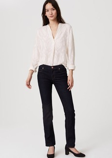Petite Modern Straight Leg Jeans in Dark Rinse Wash