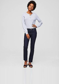 LOFT Petite Modern Straight Leg Jeans in Dark Rinse Wash