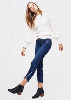LOFT Petite Modern Tulip Hem Skinny Jeans in Classic Dark Indigo Wash