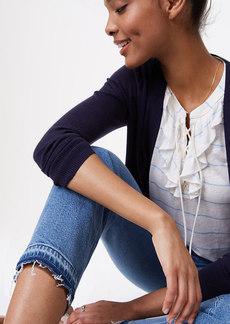 Petite Modern Unpicked Straight Crop Jeans in Vintage Stonewash