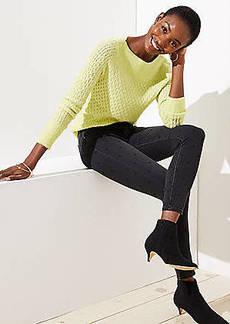 LOFT Petite Modern Dotted Skinny Jeans in Black
