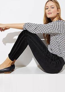 LOFT Petite Modern Velvet Tuxedo Pants