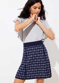 LOFT Petite Mosaic Sweater Flippy Skirt