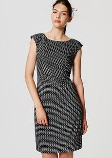 Petite Mosaic Side Shirred Dress