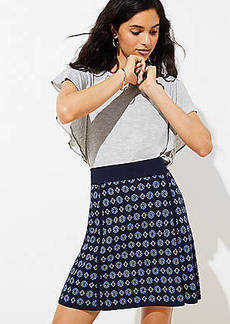 LOFT Petite Mosaic Sweater Flippy Skirt