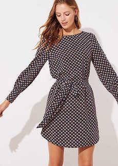 LOFT Petite Mosaic Tie Waist Shirtdress