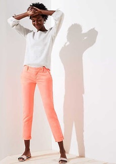 LOFT Petite Neon Cuffed Girlfriend Chinos