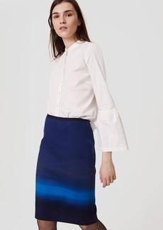 Petite Ombre Pencil Skirt