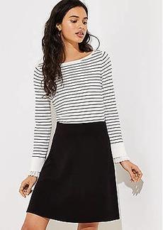 LOFT Petite Ottoman Knit Flare Skirt