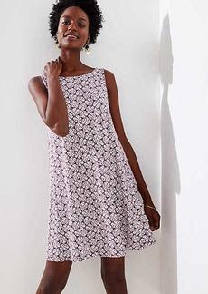 LOFT Petite Palm Sleeveless Swing Dress