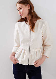 LOFT Petite Peplum Zip Jacket