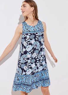 LOFT Petite Pineapple Dream Ruffle Sleeveless Swing Dress