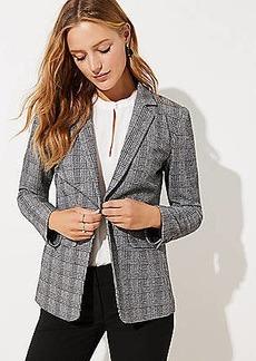LOFT Petite Plaid Knit Blazer