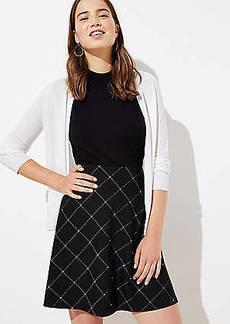 LOFT Petite Plaid Knit Flippy Skirt
