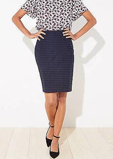 LOFT Petite Plaid Pencil Skirt