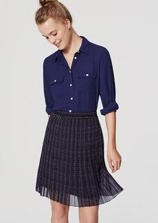 Petite Plaid Pleated Skirt
