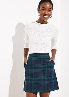 LOFT Petite Plaid Pocket Shift Skirt