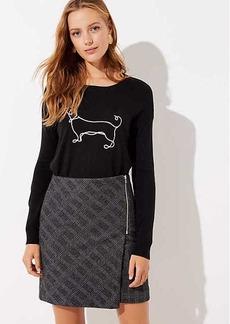 LOFT Petite Plaid Zip Wrap Skirt