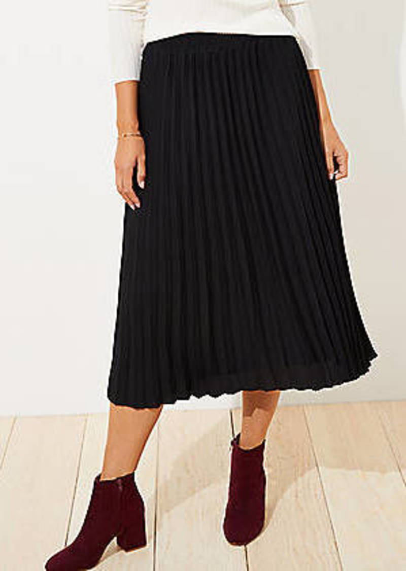 LOFT Petite Pleated Pull On Skirt