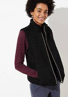 LOFT Petite Plush Vest