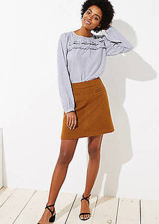 LOFT Petite Pocket Shift Skirt