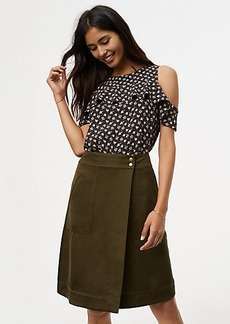 Petite Pocket Wrap Skirt
