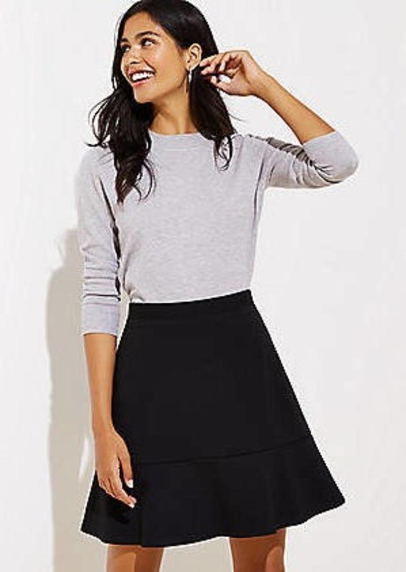 LOFT Petite Ponte Flippy Skirt