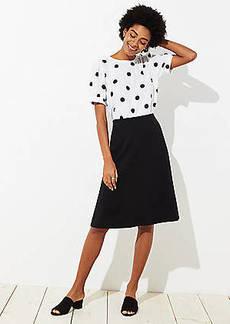 LOFT Petite Ponte Midi Skirt
