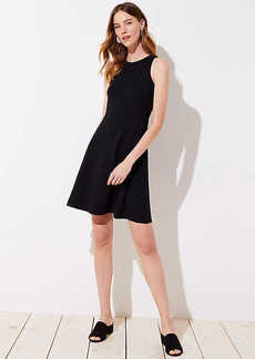 LOFT Petite Ponte Pocket Flare Dress