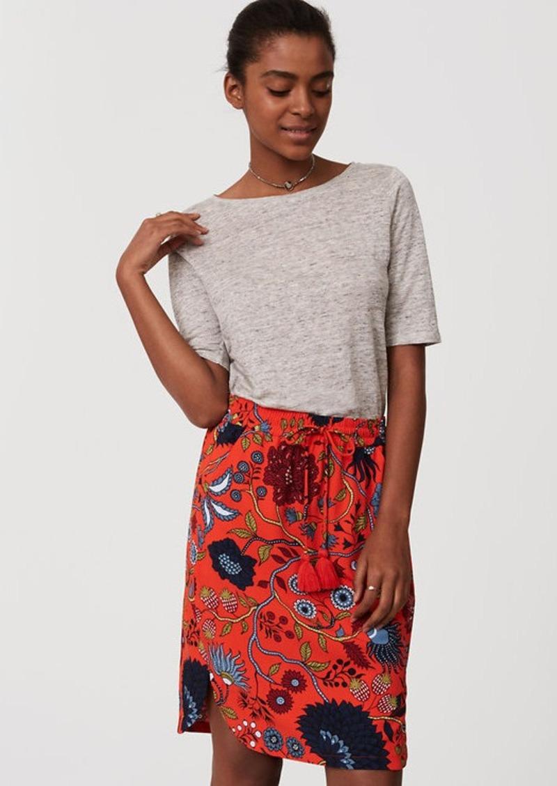 bb9b7cc1db On Sale today! LOFT Petite Primavera Drawstring Pencil Skirt