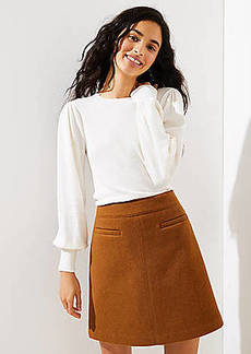 LOFT Petite Puff Sleeve Sweater