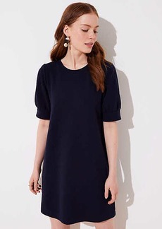 LOFT Petite Puff Sleeve Sweatshirt Dress