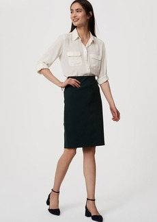 Petite Pull On Pencil Skirt