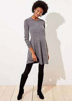 LOFT Petite Ribbed Flare Sweater Dress