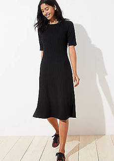 LOFT Petite Ribbed Midi Dress
